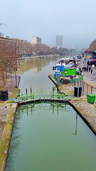 133-Paris décembre 2017 - L'écluse du bassin de La Villette à Stalingrd (paspog) Tags: paris france stalingrad rotonde bassin écluse décembre 2017 canal canalsaintmartin