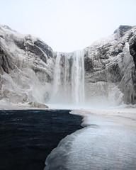 Frozen Skogafoss. Iceland. (Tanner Wendell Stewart) Tags: ifttt 500px skogafoss waterfall iceland foss winter icelandic