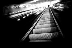 ..stairs.. (frank_hb) Tags: bw black blackandwhite blackwhite human hamburg humaninarchitecture street streetphotography schwarz silhouette shadow subway station stairs