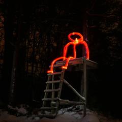 It Came from the Woods (Jan Zielinski) Tags: woods longexposureflash austagder norway stickman nightphotography longexposure m43 lumixlx100 lightpainting