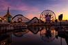 Colors in Paradise (TheTimeTheSpace) Tags: disneyland disneylandresort disneycaliforniaadventure californiaadventure sunset colors mickeysfunwheel screamin reflections nikond810 nikon247028