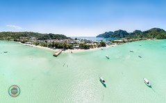 Ko Phi Phi Don HDR Aerial Panorama (Martin Deja) Tags: phiphidon phiphiislands phuket thailand island highdynamicrangeimaging aerialview panoramic panorama ocean bluesky beach rainforest water sun bright green blue sand cloudssky pacificocean travel traveldestinations vacations drone andamansea topview clear nature palmtree jungle outdoors coastline landscape day summer tropicalclimate tropicalrainforest tropicaltree lagoon tourism rock waves turquoise cyan nauticalvessel marina boat ship mountainrange