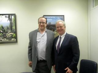 Alec Frazier with Senator Chris Van Hollen