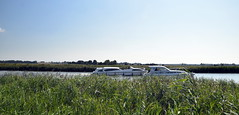 Race (Worthing Wanderer) Tags: norfolk summer sunny cloudy water boats farmland august bure broads pathfinderguides path