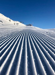 The early bird catches the brand new slopes (ISO 69) Tags: aletsch aletscharena schweiz suisse moosfluh riederalp bettmeralp wallis valais alps mountains switzerland weiss white earlybird slope piste schnee snow