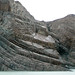 Structurally-tilted sedimentary rocks (Grey Lake, Torres del Paine National Park, Chile)