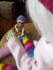 Ruthie and Im, in rainbows. (homethorpe) Tags: pukipukipongpong resinsoul im rainbows rainbow bjd dolladventures tinybjd tiny