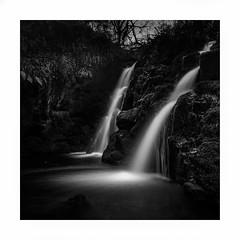 Secret Falls (Nick green2012) Tags: waterfall dartmoor longexposure blackandwhite square landscape secret