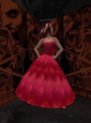Summer Dress - Galaxy - Red_001 (hmkagm) Tags: maitreya with flexy skirt silver dragon summer flowers pleated