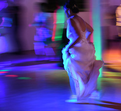 Bride on the run (Ian@NZFlickr) Tags: bride movement slow shutter wedding dance