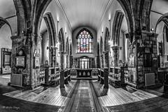 Cattedrale di St. Nicholas - Galway - (Irlanda) (mirkoforza) Tags: cattedrale di st nicholas galway irlanda bw red windows nikon d700 sigma 24105 art