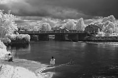 Down by the river. (la1cna) Tags: river infrared monochrome travel reisen summer landscape urbanwalk cityscape sigma scandinavia norway norwegen