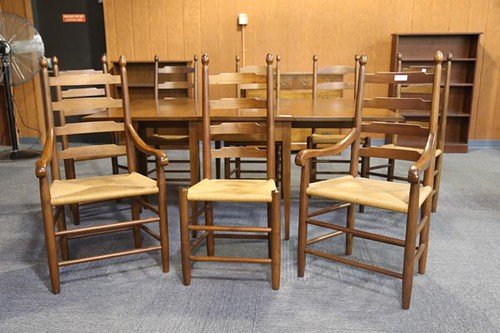 8 Clore Ladderback Chairs ($1,008.00)