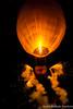 Fireworks go off from a Fire Balloon at the Shwe Lin Lun Pagoda Festival in Kalaw (adventurousness) Tags: fireballoon hotairballoon hsutaungpye shanstate shwelinlun balloon buddha buddhism festival fire kalaw night pagoda religion shan temple fireworks