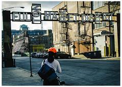 Fulton Market District Gateway (swanksalot) Tags: fultonmarket fulton fultonmarketdistrict sign chicago bike biker strangers westloop 27thward gateway tweeted