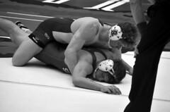 BRO-STA 149 2018-01-13 DSC_8187 bw (bix02138) Tags: brownuniversity brownbears stanforduniversity stanfordcardinal pizzitolasportscenter pizzitolasportscenterbrownuniversity providenceri january13 2018 wrestling sports intercollegiateathletics athletes jocks ©2018lewisbrianday 149pounds 149 zachkrause jakebarry