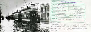 1920s – London United Tramways tram 142 at West Barnes.