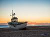 Catch the sun (grbush) Tags: sun sunrise dawn daybreak beach shore coast coastline sea seascape seaside shingle boat fishing fishingboat kent dungeness sonyslta77