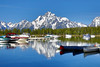 Jackson Lake Reflections (Dan9900) Tags: boat boats reflection reflections mountain mountains landscape canoe canoes travel traveling traveler grand teton national park tetons mtns mtn kayak boating boater outdoors wanderlust mndphoto jackson hole jacksonhole grandtetons