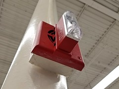 Gentex SHG horn/strobe (SchuminWeb) Tags: schuminweb ben schumin web january 2018 westvirginia west virginia charles town charlestown jefferson county goodwill store thrift stores retail retailer retailers retailing fire alarm alarms horn strobe horns strobes electronic notification appliance appliances firealarm firealarms light lights strobelight strobelights red gentex shg