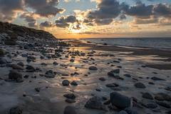 Winter Sunset (clementcrouzet) Tags: canon 80d tamron sunset hirtshals denmark rock seascape cold winter