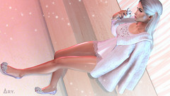 Mice and Crystals (Ary McAuley) Tags: sl second life fashion blog outfit pink blue rose pastel glitter fairylights blonde pigtails gems diamonds crystals fur coat flats cest la vie nerido osmia chicchica sintiklia foxcity rama blush chapter four shop your heart out