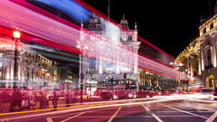 Piccadilly Rush Hour (AlistairBeavis) Tags: alistairbeavis alistairbeaviscom 52weeks light lighttrails traffic piccadilly piccadillycircus london night longexposure cars buses