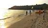 A Walk on the Beach      ~ Explore ~ (U A Satish) Tags: bogmalobeach goa india bogmalo beach sand sea sky uasatish flag southgoa explore