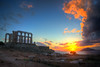 Cape Sounion (Xiaohua Le) Tags: athens sunset greece temple poseidon cape sounion