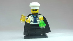 Brick Yourself Custom Lego Figure Mad Scientist with Beer