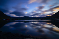 Mirror Worlds! (_Amritash_) Tags: mirrorworlds reflections clouds ísafjörður harbour travel iceland landscapes evening sunset vestfirðir westfjords fjordofice icefjord longexposure