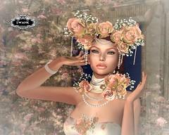 January at SWANK (lilyanarcana) Tags: swank irrisistible gown fantasy jewel hat rose romantic maitreya secondlife