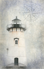 Edgartown Lighthouse Textured (Bill Wakeley Imagery) Tags: texture capecod nautical edgartown massachusetts