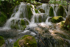 Falls of Water (mesocyclone70) Tags: waterfall cascade water stream croatia woods nature moss stone stones waterscape plitvice handhold rock rocks
