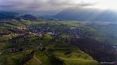 Comfortable atmosphere (Silvan Bachmann) Tags: switzerland swiss suisse schwyz steinen nature landscape fields green sun sunrays shine clouds village forest drone dji phantom hobby flying comfortable atmosphere lovley nice beautiful scenery