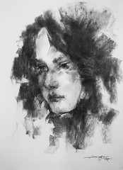 P1017577 (Gasheh) Tags: art painting drawing sketch portrait girl charcoal pencil gasheh 2018