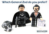 Which General Zod do you prefer? (WhiteFang (Eurobricks)) Tags: lego minifigures cmfs movie blockbuster dc comics heroes bad guys baddies hero characters city town superheroes costume collections collectable fleshie licensed batman superman