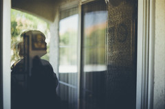 Day 078 (H o l l y.) Tags: lomography 35mm film analog pentax shadow self portrait girl glass window curtains reflection reflecting balcony apartment home retro indie vintage