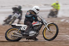 Beach racing in the snow. (bainebiker) Tags: beachracing motorcycleracing beach sea sand hondamotorcycle motorsport panning canonef100400mmf4556lis snow maplethorpe lincolnshire uk mablethorpesandracing
