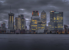 fifty shades of grey (Wizard CG) Tags: canary wharf city clouds london night sky river skyline thames waterfront water architecture outdoor epl7 england worldtrekker ngc olympus longexposure sunset cityscape
