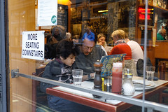 Hanging out with Dad (Occipitals) Tags: londonstreets londonphotographer london streetphotography street streets streetphotographer streetsoflondon restaurant eating food eye instagram people person father son city citylife united kingdom soho