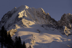 Sunset on the spot (Jean-Philippe Azaïs) Tags: chamonix mont blanc alps mountain skiing ski snow tram verte aiguille ice lanscape winter eleanor