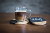 DSC_0515 (B.Gim) Tags: coffee coaster product 35mm nikon brown glass d3100 closeup bokeh photography photo cup mug cupofcoffee hispter chalk chalkboard