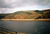 Derwent Reservoir, October 1989 (Dave_Johnson) Tags: silentvalley derwentreservoir reservoir fairholmes derwentdam derwent dam upperderwentvalley derwentvalley valley dambusters ladybower peakdistrict derbyshire drought 1989