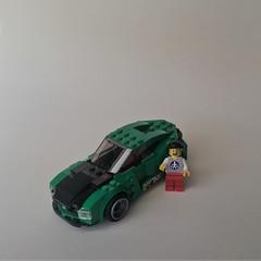 Piet's Green Car From Above (Janultra) Tags: smile minifigure stickerbomb lego moc green 6 wide piet floating car bricks folding hamburg janultra chair rims führer 2018 stein hanse minifigures norden baterang