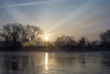 Good morning (Bart.D) Tags: sunrise sun trees tree nikon d7200 river water clouds dirty lens glare morning