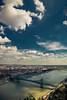 View of Liberty bridge from Gellert hill (Vagelis Pikoulas) Tags: hill liberty bridge budapest pest canon landscape sky sun urban city cityscape river danube hungary europe travel tokina 2470mm september autumn 2017