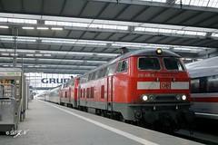 218 416 und 218 XXX mit EC 191 in München Hbf (Domecar) Tags: br218 db fernverkehr fernzug personenzug sbb eurocity international münchen hbf v160