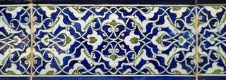 Leaf design on a ceramic tile ornamentation, Lisbon