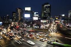 Speed (TigerPal) Tags: seoul korea southkorea seoulstation seoullo7017 night lighttrails longexposure ndfilter motionblur city cityscape dark traffic transportation transit